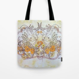 Twisted Twin Sisters Tote Bag
