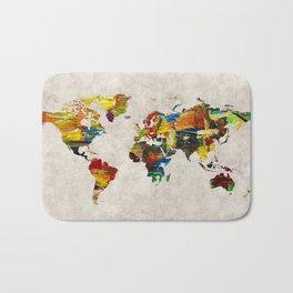 World Map 44 Bath Mat