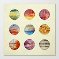 planets Canvas Prints featuring Planets by Elisabeth Fredriksson