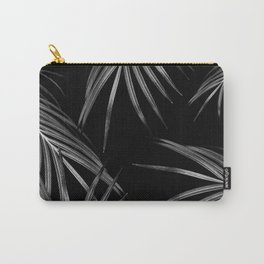 Silver Gray Black Palm Leaves Dream #1 #tropical #decor #art #society6 Carry-All Pouch