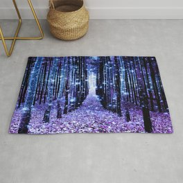 Magical Forest Turquoise Purple Rug