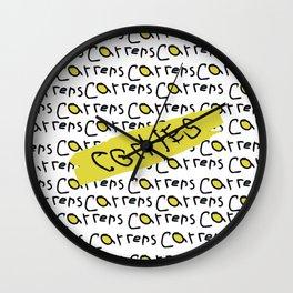 Carrera de coches Wall Clock