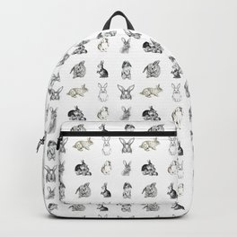Vintage Bunny Rabbit Pattern Backpack