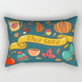 Autumn Is The Time To Stay Cozy Rectangular Pillow