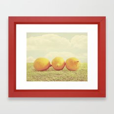 Lemongrass Framed Art Print