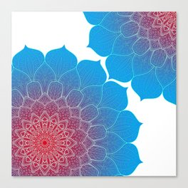 Colourful Mandala design, Mandala texture Canvas Print