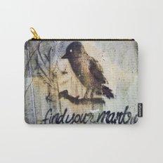 Zen Mantra Black Bird Graffiti Grunge Mandala Tile Design Carry-All Pouch