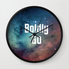 Boldly Go Wall Clock