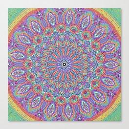 A little bit of Rainbow - Mandala Art Canvas Print