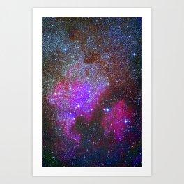 North America Nebula: Stars in the space. Art Print