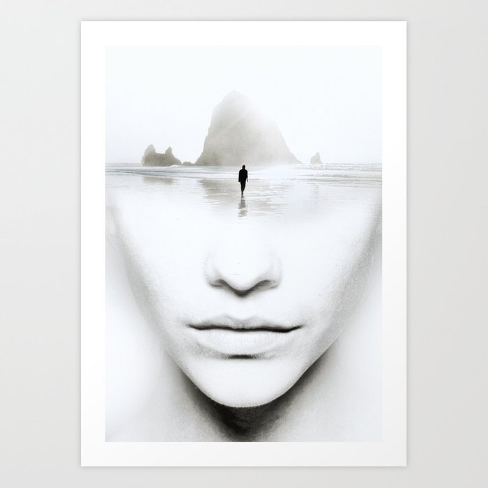 in thoughts Art Print