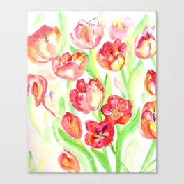 Mothers Day Tulips Canvas Print