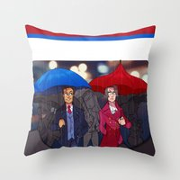 ace attorney Throw Pillows featuring ace attorney by cclaire