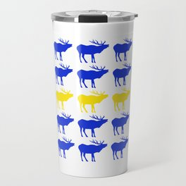 Graphic Swedish Elk Flag I Travel Mug