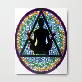 Meditate on this Metal Print