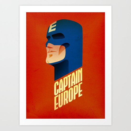 Captain Europe Art Print