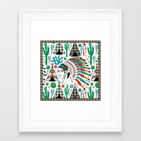 headdress Framed Art Prints featuring Headdress by Vannina