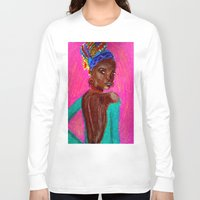 african Long Sleeve T-shirts featuring African by Ksuhappy