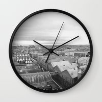 dublin Wall Clocks featuring Dublin  by Thomas Peham