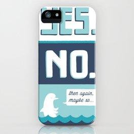 indecisive dolphin iPhone Case