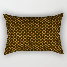 Retro Colored Dots Fabric Pumpkin Orange Rectangular Pillow