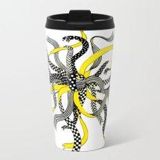 Swirling Ribbons Metal Travel Mug