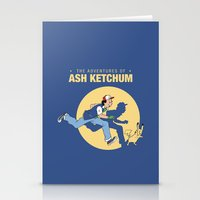 tintin Stationery Cards featuring THE ADVENTURES OF ASH KETCHUM by Akiwa