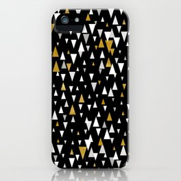 Triangle Modern Art - Black Gold iPhone Case