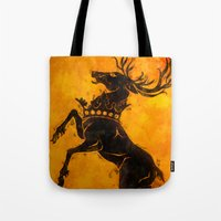 stag Tote Bags featuring Stag by Narwen