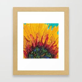 Flaming Flower Framed Art Print
