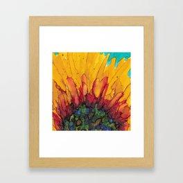 Flaming Flower Framed Art Print