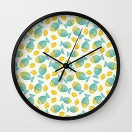 Fish and Lemons Wall Clock