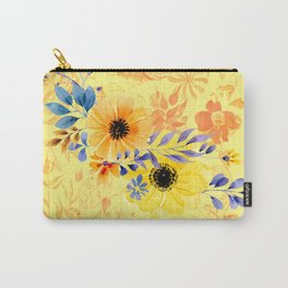 Watercolour Spring Flowers Carry-All Pouch