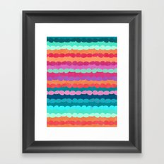 Brite Stripe Framed Art Print