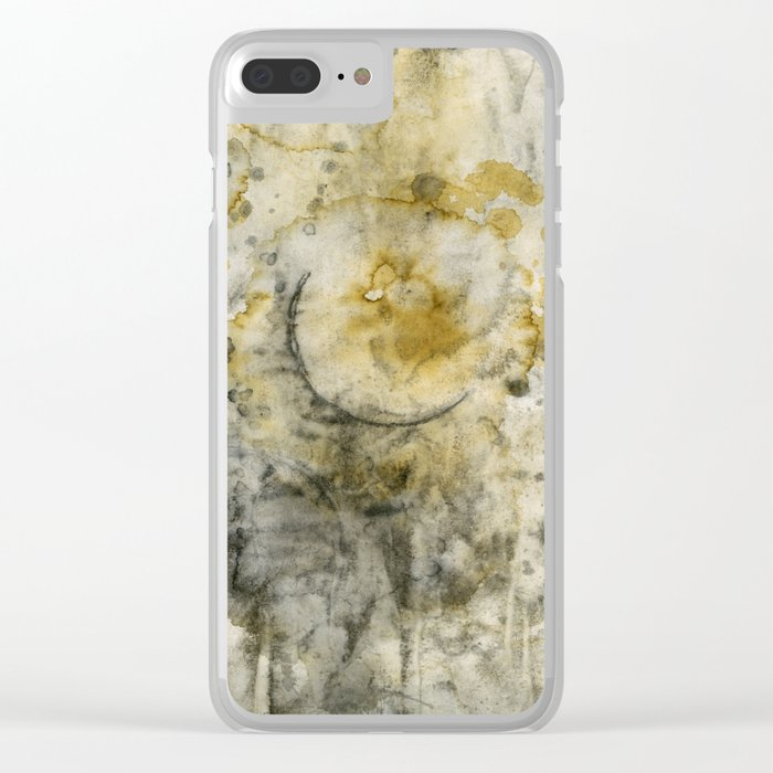 Black Pigment And Coffee Clear iPhone Case