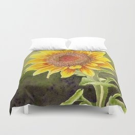 Sunflower–Watercolor Duvet Cover