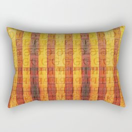 Pattern with the alphabet and hot colors in stripes Rectangular Pillow