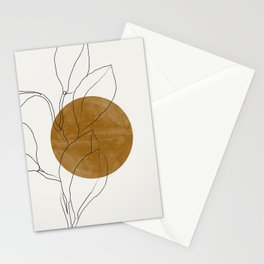 Line Art Home Plant Stationery Cards