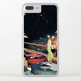 Look There - a Fish and a Galaxy Clear iPhone Case