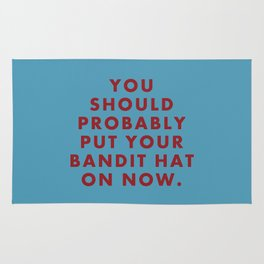 "Fantastic Mr Fox - ""You should probably put your bandit hat on now."" Rug"