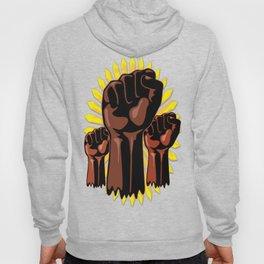 Black Power Raised Fists Hoody