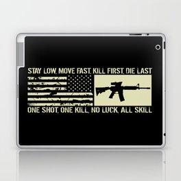 M4 Assault Rifle & Tactical Flag Laptop & iPad Skin