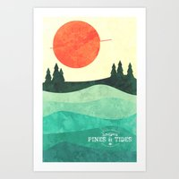 From the Trees to the Sea Art Print
