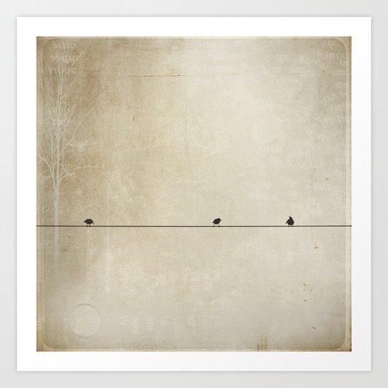 Songbird Trio Art Print