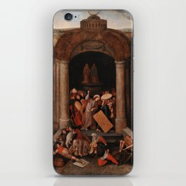 Christ Driving the Traders from the Temple, Pieter Bruegel the Elder iPhone Skin