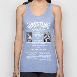 #1-B Memphis Wrestling Window Card Unisex Tank Top