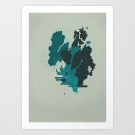 Geometric Mapping #3 • by Secret Peak Art Print