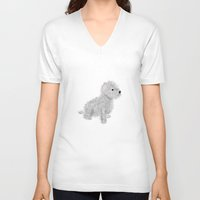 westie V-neck T-shirts featuring westie by oslacrimale