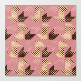 Clover&Nessie Macaron/Wine Canvas Print