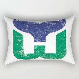 Hartford Whalers Distressed Logo - Defunct Hockey Team - New England & Massachusetts Sports Heritage  Rectangular Pillow